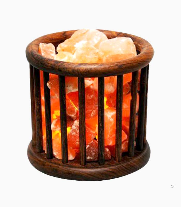 Cage Wood Basket – with Chunks